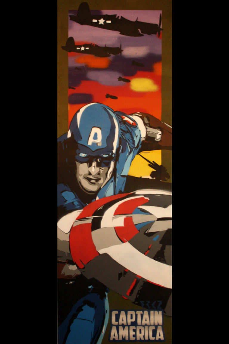 Toile Captain America by FRKZ - BenMaker.fr