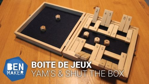 Boite de jeux Yam's & Shut the box - BenMaker
