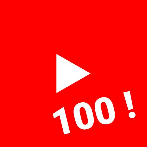 100 abonnés Youtube