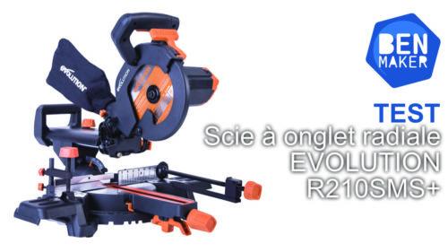 Scie à onglet radiale Evolution R210SMS+