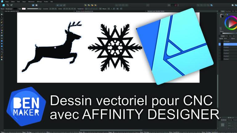 Créer un fichier vectoriel avec Affinity Designer pour la CNC