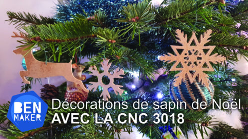 decoration sapin de noel cnc 3018