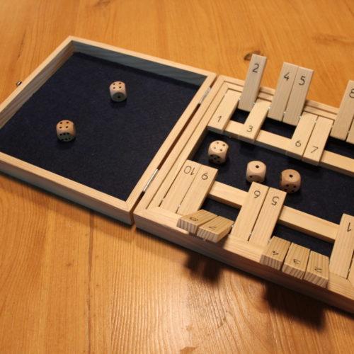Boite de jeux Yam's & Shut the box - BenMaker.fr