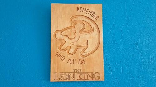 Gravure le roi lion
