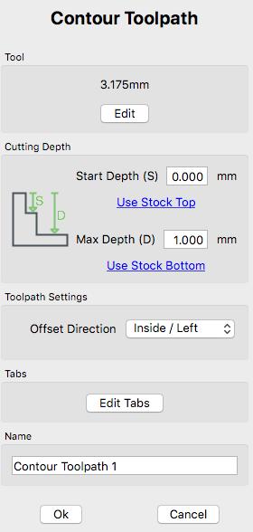 Carbide create Contour toolpath