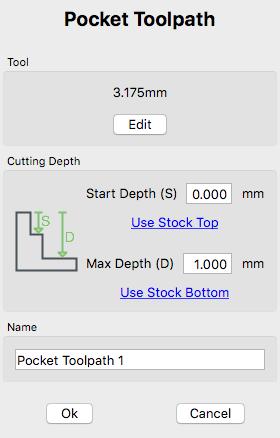 Carbide create pocket toolpath
