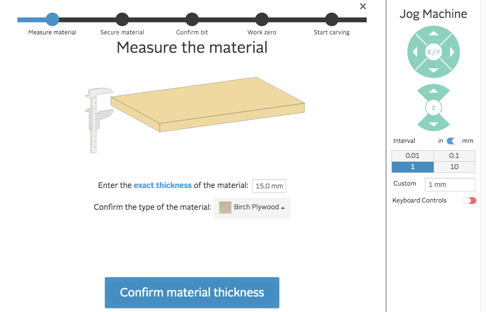 easel measure the material