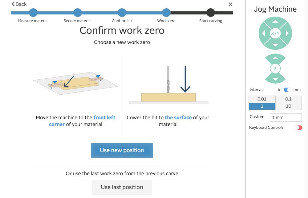 easel confirm work zero