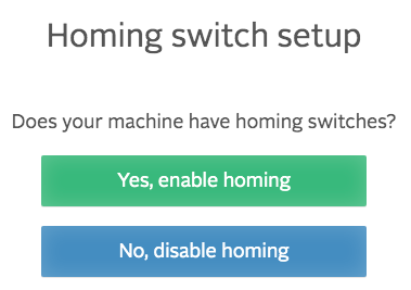 easel homing switch setup