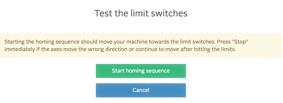 easel test limit switch