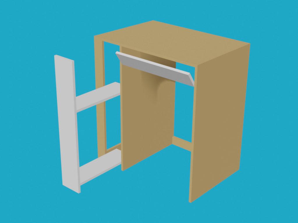 Meuble pour machine à laver - Rendu 3D