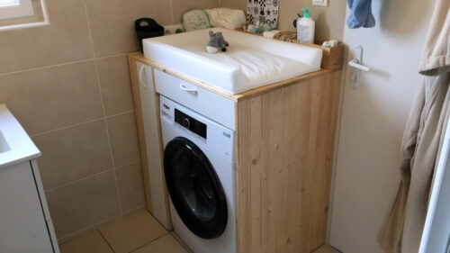 Je fabrique un meuble pour machine a laver / table à langer