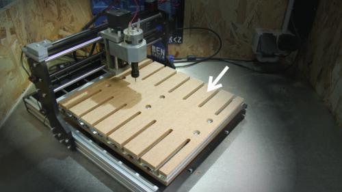 Je fabrique un Spoilboard pour la cnc 3018